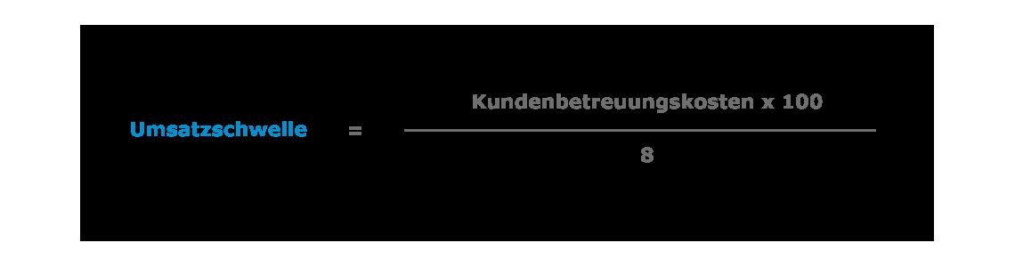 Kleinkundenmanagement-Rechnung_Umsatzschwelle